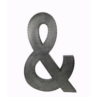 Large Aluminum Ampersand Design Wall Decor