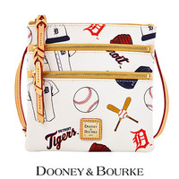 Detroit Tigers MLB Triple Zip Crossbody by Dooney & Bourke - MLB.com Shop
