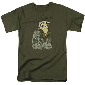Ed Edd N Eddy - Brain Dead Ed Short Sleeve Adult 18/1 Shirt Officially Licensed T-Shirt