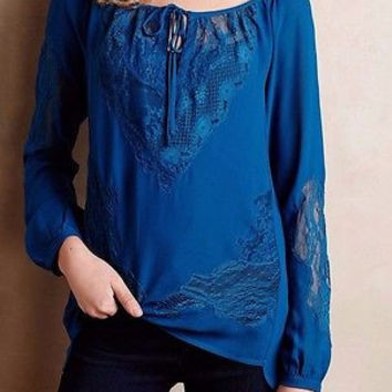 NWT Anthropologie $168 Salt Spring Peasant Blouse Top Sz S P - By Yoana Baraschi