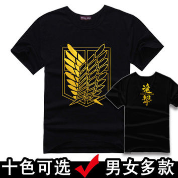 Brand Clothing Men attack on titan T-shirt Cotton Print Men T shirt Homme Fitness Camisetas Hip Hop tshirt Men