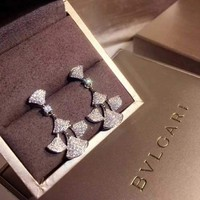 G. Bulgari Enigma Diamond Gold Jet Earrings
