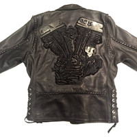 Dark 8 'Engine' Stingray Motorcycle Jacket