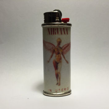 Nirvana Album Metal Lighter Cover Case- In Utero