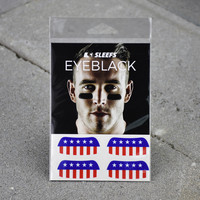 USA American Flag Eye Black Stickers