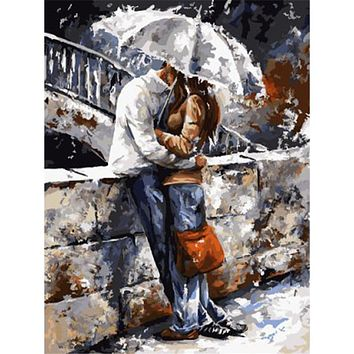 WEEN Romantic Figure Picture Painting By Numbers DIY Handpainted Wall Art  For Living Room Modern Decoration Picture Artwork