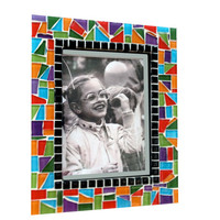 Fun, Multicolored Mosaic Picture Frame