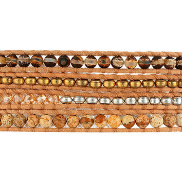 Chan Luu Semi-Precious Stone Mix Wrap Bracelet Brown Agate Mix - Zappos.com Free Shipping BOTH Ways