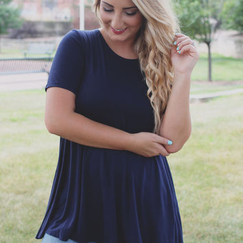 Just Cruising Top - Navy