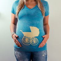 Vintage / Retro Baby Pram Stroller maternity tee / by LeBelly