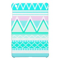 Bright Turquoise Tribal Case For The iPad Mini from Zazzle.com