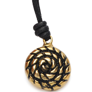 Cinnabon Dessert Handmade Brass Necklace Pendant Jewelry