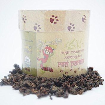 Organic High Mountain Oolong Tea - Save The Red Panda Tea with Fruity Chocolate Notes (50 Gm)