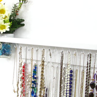 Jewelry Organizer with shelf and wall vase