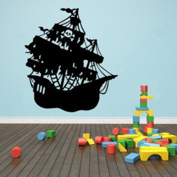 Pirate Ship Vinyl Wall Decal Sticker Art