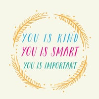 YOU is kind YOU is smart YOU is important // Girl & Boys Nursery Art // Vintage Style Kids Decor // Unique Baby Shower Gift