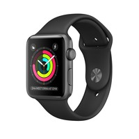 Apple Watch Space Gray Aluminum Case with Black Sport Band