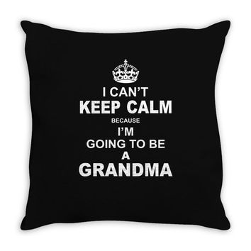 ....i am going to be a Grandma Throw Pillow
