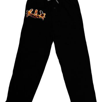 Fire Masquerade Mask Adult Lounge Pants - Black by TooLoud