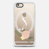 Initial -ly Yours Floral Monogram S iPhone 6s case by Emilee Parry | Casetify