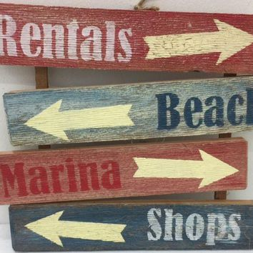 BEACH ARROW WOOD SIGN
