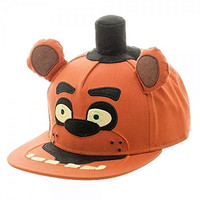 Five Nights at Freddy's Big Face Plush Logo Adjustable Snapback Cap/Hat
