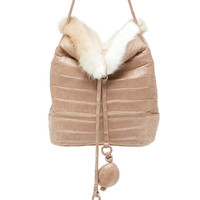 Mini Mink and Crocodile Hobo Bag | Moda Operandi