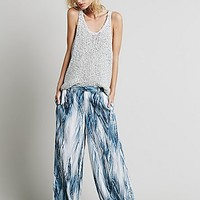 Free People Womens Printed Wideleg Pant