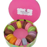 Leilalove Macarons 12 Macarons- Dozen Parisian Favorite Flavor Assortments- A gift to remember-gift box may vary by occasions