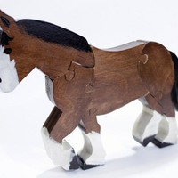 Childrens Clydesdale Puzzle - Standing Draft Horse Puzzle