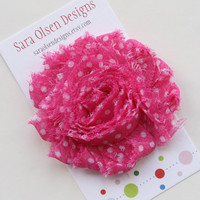 Shabby Chic Sweet and Simple Hot Bright Pink by SaraOlsenDesigns