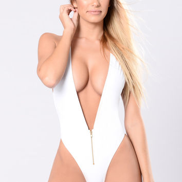 Surf The Tides Swimsuit - White