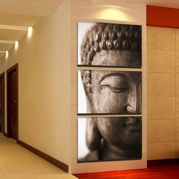Buddha Wall Art Painting Picture Canvas Home Decor Sticker Unframed