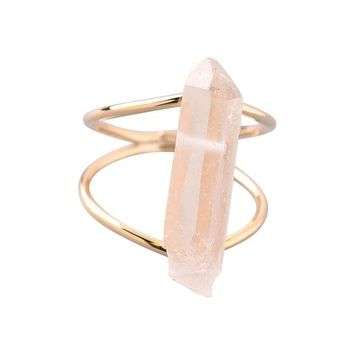 Desert Skies Clear Raw Stone Ring