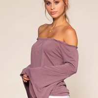 Kai Off The Shoulder Top - Rose