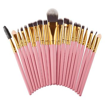 3 Colors Professional 20 pcs Make-up Toiletry Kit Wool Make Up Brush Set de maquiagem Makeup Brush Set Tools