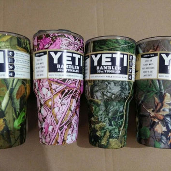 YETI Sports Water Bottle Camo 30oz YETI Tumbler Rambler Cups Large Capacity Stainless Steel Cars Coffee Thermos Mugs Free ship