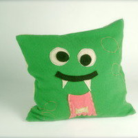 SNUGGLY UGLY Monsters — Snuggly Tooth Fairy Cashmere Pillow - Green