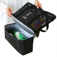 2017 New Double layer Insulated Picnic Beer Cooler  Picnic Bag Thermal Food Container Picnic Basket Bag Hands Baby Diaper bags
