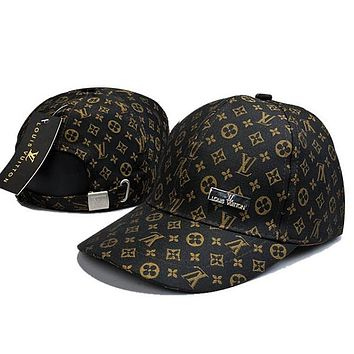 4187ec462cca6 LV Louis Vuitton Women Men Fashion Sunhat Embroidery Baseball Cap Hat