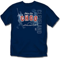 Cleveland Indians MLB Shin-Soo Choo Players Stitch Boys Tee (Navy) (Large)