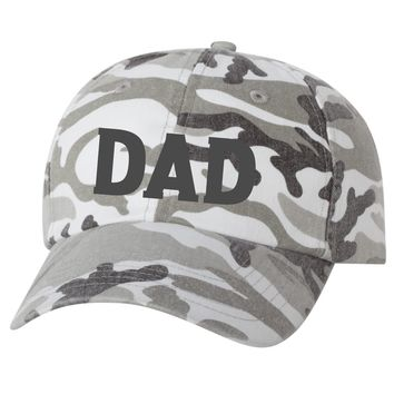 b3e7792c3144c7 DAD Gray Camo Embroidered Baseball Cap