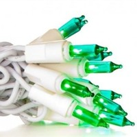 Mini Dorm Lights - Teal - White Wire