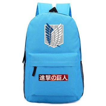 Cool Attack on Titan  Scouting Legion Anime School Book Bags Laptop Backpack Mochila Feminina Boys Girls Back To School Gift Day Pack AT_90_11