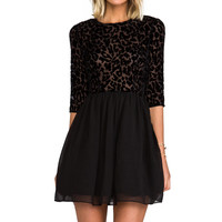 BB Dakota Corella Chiffon Long Sleeve Dress in Black