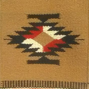 Aztec Design Table Rug #3 Wool 10' by 20'