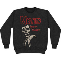 Misfits Men's  Legacy Big Skull Sweatshirt Grey