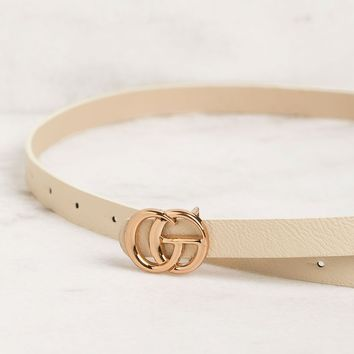Maison Thin Taupe Belt