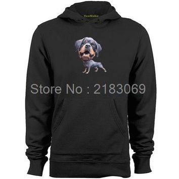 Rottweiler Big Head Small Body Mens & Womens Long Sleeve Lovely Funny Hoodies Sweatshirts Sweater