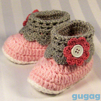 Floral Crochet Baby Booties Set, Baby Headband Set, Crochet Baby Shoes, baby handmade shoes, toddler headband set, baby shoes set, crochet
